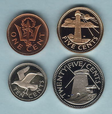 Barbados. 1979 : 1,5,10 & 25 Cents..  All Proof