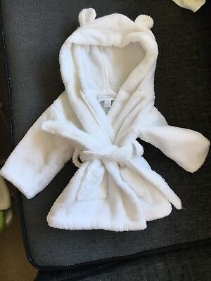 0-3 Months The Little White Company Dressing Gown . Unisex. Excellent Condition