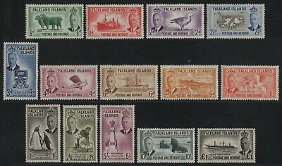 Falkland 1952 - Mi-Nr. 102-115 ** - MNH - Freimarken / Definitives