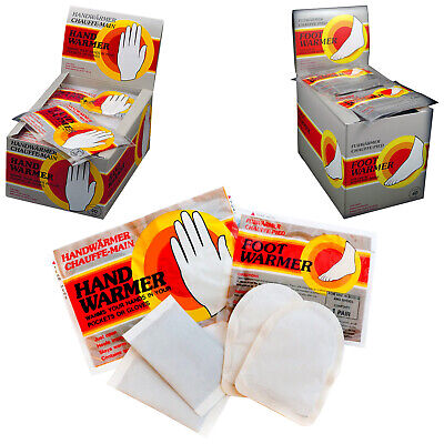Mycoal Hand or Foot Warmers Packs - New Golf Football Rugby Winter Cold Sports