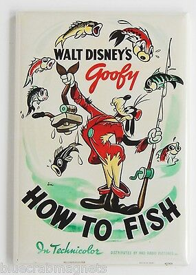 How to Fish FRIDGE MAGNET (2 x 3 inches) movie poster goofy fly fishing