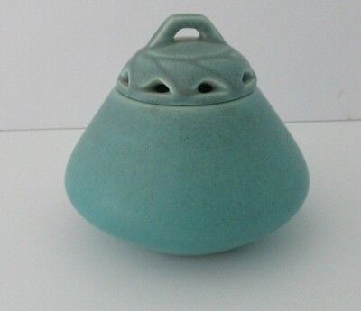 Rookwood Pottery Matte Turquoise Covered Jar/Bowl Jardiniere w/Insert Cover 1922