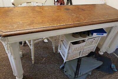 antique hall table 1800s  65inches x31.5x21.5inch