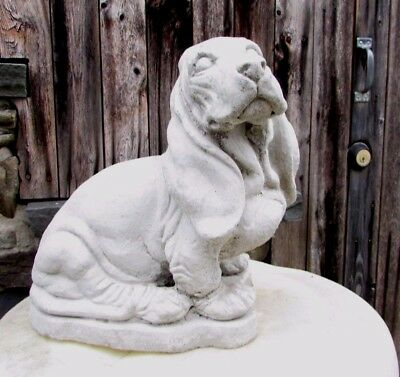 Concrete Life Size Basset Hound Statue  , Memorial /  Grave Marker