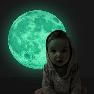 3D Moon Star Glow in the Dark Luminous Fluorescent Home Room Wall Decal Sticker