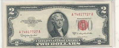 1953c $2 red seal note