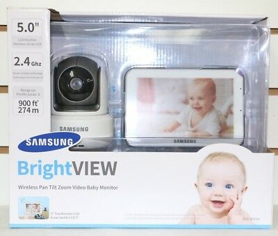 """Samsung BrightVIEW Digital HD Wireless Baby Monitor and Camera 5"""" Color Touch"""