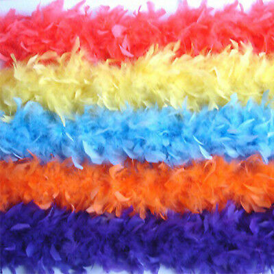 Fancy Dress Feather Boa 200cm 9 Different Colors Burlesque Showgirl Hen Night