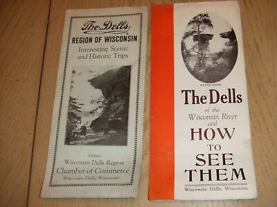 2 VINTAGE 1930s The Dells Wisconsin Driving Tours What How To See Brochures COC