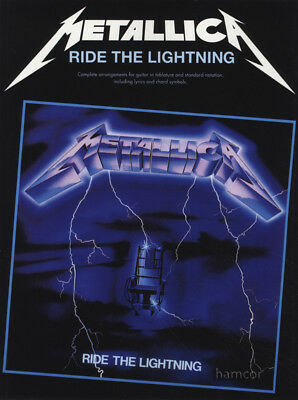 Metallica Ride The Lightning Guitar TAB Music Book