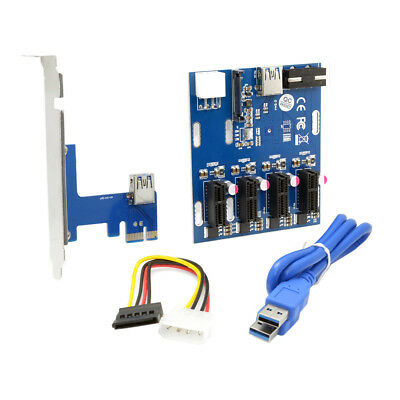 Riser-Karte Schalter Multiplikator Adapter CY EP-105 PCI-e Express 1x to 4 Port
