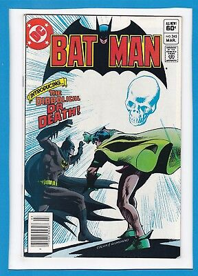 "Batman #345_March 1982_Fine/very Fine_""the Diabolical Dr Death""_Bronze Age Dc!"