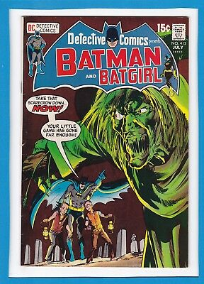 Detective Comics #413_July 1971_Very Fine+_Batman_Batgirl_Bronze Age Dc!