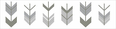 Sweet Jojo Grey Woodland Arrow Baby Kids Wall Paper Border Decor Wallcoverings