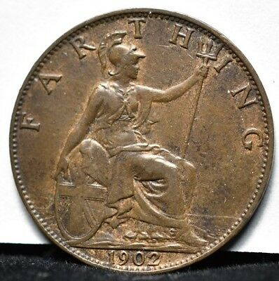 1902 Great Britain - Farthing - AU