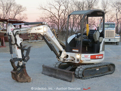 2008 Bobcat 425G Mini Excavator Backhoe Hydraulic Thumb Backfill Blade Aux
