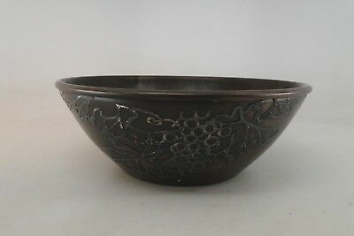 Antique Heintz Arts And Crafts Bowl Sterling On Bronze Rare
