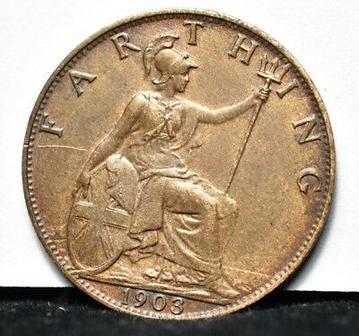 1903 Great Britain - Farthing - XF