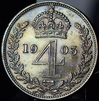 1903 Great Britain Silver 4 Pence - Prooflike