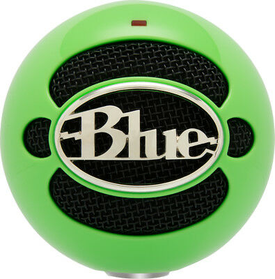 NEW! Blue Microphones 836213003022 Snowball USB Microphone - Neon Green