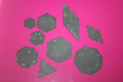 9x Antique/Vintage Metal Patchwork Cutting Guides Shapes Sewing Hexagon Sew