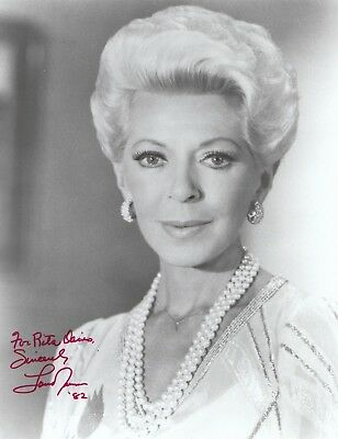 Lana Turner Signed Original B&W 8x10 Glossy Photo Personalized JSA Authenticated