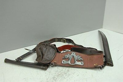 Cosplay Weapons Belt w/ Body Crossover and Leather Sword Sheaths