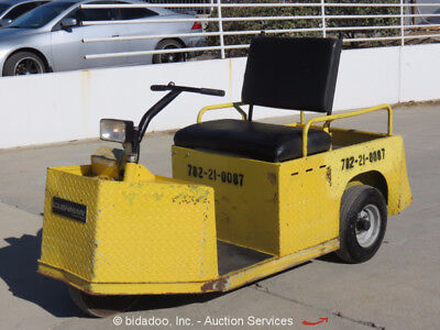 2010 Cushman Minute Miser Industrial 24V Electric Flatbed Warehouse Cart bidadoo