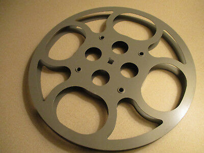 16mm 800 Ft Metal Film Reel /1950's Grey Bell Circle   /10  Inches Across