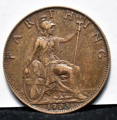 1907 Great Britain - Farthing - XF