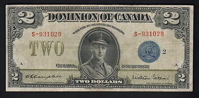 CANADA P-34i. 1923 2 Dollars.. Campbell/Seller.. Blue Seal..  Fine