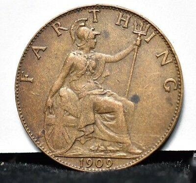 1909 Great Britain - Farthing - XF