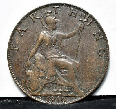 1910 Great Britain - Farthing - XF