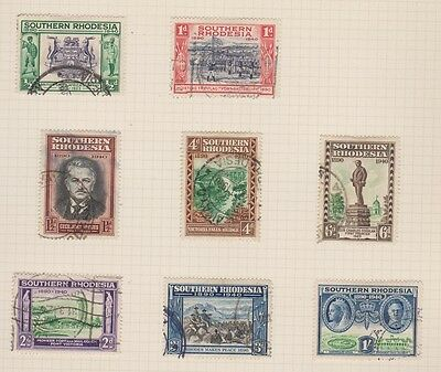 SOUTHERN RHODESIA 56-63 1940 used set