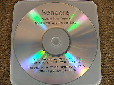 Service Manuals & Test Data for Sencore Tube Testers TC28 TC162 TC154 TC142
