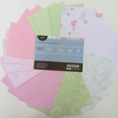 Creative Memories - EXPRESS YOURSELF PHOTO MATS - DREAMY - PINK AND GREEN