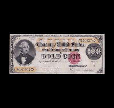 Incredible 1922 $100 Gold Certificate Strong Extra Fine++