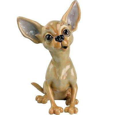 "Pets With Personality ""Tiffany"" Chihuahua Dog Figurine 8.5"" High NIB Made In UK"