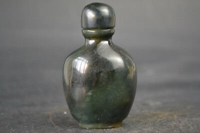China Collectible Vintage Old Jade Inside Hollow Burnish Beautiful Snuff Bottle