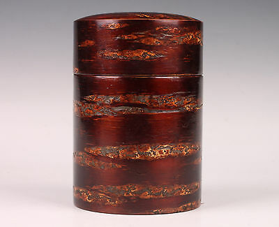 Cherry Bark Wood Handmade Gift Tea Caddy Box Collectable Decoration