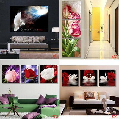 Modern Abstract Canvas Print Pictures 3-Panel Wall Art Home Decorative Paintings