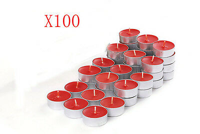 100X Wedding Party Romantic Round-Shaped Red Candles Wholesale Lots 100 PCS