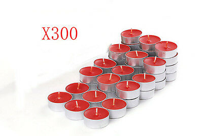 300X Wedding Party Romantic Round-Shaped Red Candles Wholesale Lots 300 PCS