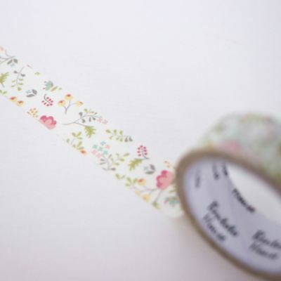 Delicate Floral Washi Tape 7m Craft Wedding Favours Scrapbooking