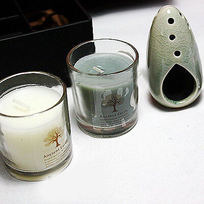 Valentine's Day/Yoga Treatments Scented Candles Sets 2Cup Candles+Incense Burner