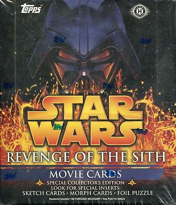 Star Wars Revenge Of The Sith Factory Sealed Hobby Box