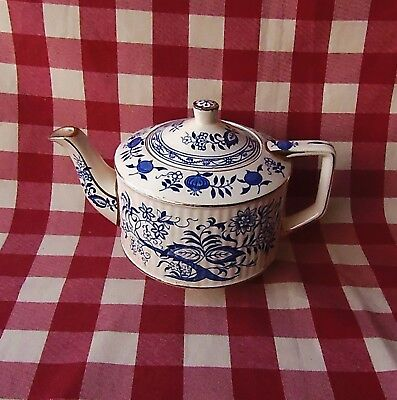Sadler Teapot Blue Pattern Collectable, Vintage Good Condition