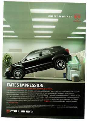 2006 DODGE Caliber Vintage Original Print AD - Black car photo photocopier