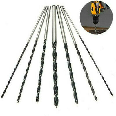 7Pcs 300mm Extra Long Brad Point High-carbon Steel Wood Drill Bit Kit Set Tool