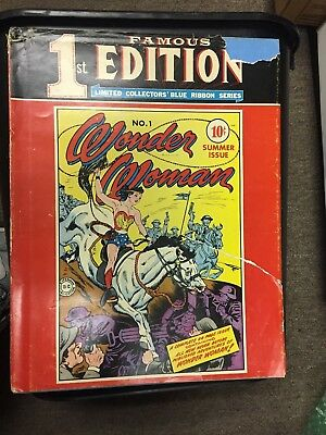 Famous First Edition Wonder Woman #1 1974, RARE Hard Cover, FREE SHIPPING